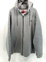 Nike Jacket 806681-091 Men's MODERN HOODIE FZ CARBON HEATHER SPORTSWEAR Size 3XL