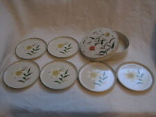 Otagiri Japan Lacquerware Lily Coasters Set of 6 w/ Box - Vintage