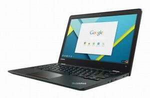 "Lenovo Chromebook Laptop Thinkpad 13.3"" ChromeOS 4GB RAM 16GB SSD 1.60GHZ webcam"