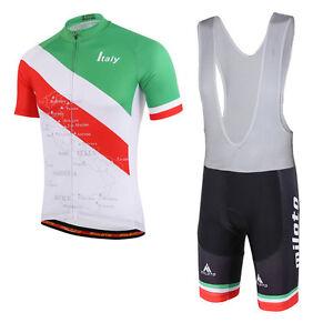 Italy Cycling Team Clothes Kit Men's Cycling Jersey and (Bib) Shorts Set S-5XL