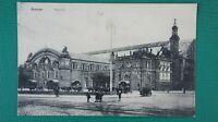 Ansichtskarte Postkarte Foto Eisenbahn Antik Bremen Bahnhof aus Sammlung  K-888