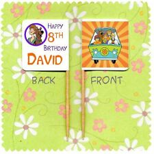 20 PERSONALISED SCOOBY DOO CUP CAKE FLAG Party Pick Topper Decoration Birthday