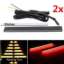2x 12V LED Auto LAUFEFFEKT Blinker Gelb/Rot Zusatzbremslicht Rücklicht Universal