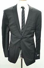 NWT DKNY Men's Suit 46R-40W Black Stripes MSRP $650 100% Wool Skinny Fit c-510