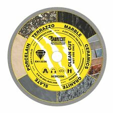 SabreCut 200mm Continuous Rim Disc Diamond Blade for Grinders and Tile Cutters