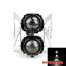 Dual Stacked Streetfighter Projector Motorcycle Headlight Set Emarked For Sachs
