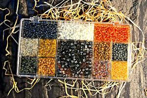 Bastelbox mit Glasschmuckperlen, Buchstabensteinen, Kettenverschlüssen & Faden 4