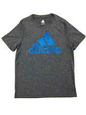 Adidas sport workout Active Tennis Climate T shirt Youth Boy size M 10 Gray