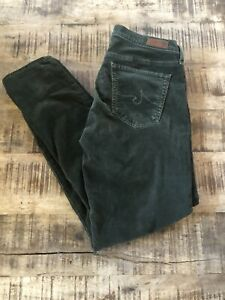 AG Adriano Goldschmied The Stevie Ankle Green Corduroys Jeans 30