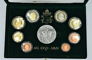 Vatican 2005 -  Proof Euro Coinset Box and COA