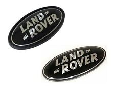 LAND ROVER RANGE ROVER SUPERCHARGED OVAL BADGES BLACK ON SILVER GENUINE PARTS