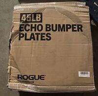 NEW Rogue Fitness Echo V2 Bumper Plates 45 lb x2 Pair NEXT DAY SHIPPING