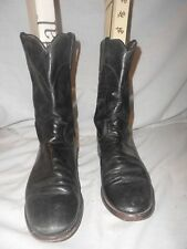 Justin Black Leather Womens? Western Ropers Biker Boots 6 1/2 C