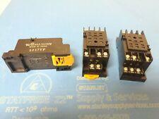 3 Pcs 11pin 35mm Pyf11a Din Rail Mounted Relay Socket Base Omron New