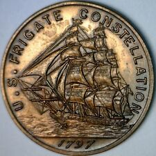 1797 USS FRIGATE CONSTELLATION COPPER MEDAL COIN Struck w/ Ship Parts NO RESERVE