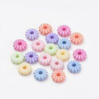 200 CANDY DOLLY BEADS NOT EDIBLE JEWELLERY MAKING RONDELLE SHAPED FREE P/&P