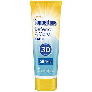 Coppertone Sunscreen Defend & Care FACE SPF 30 OIL FREE 3 oz FREE SHIPPING USA