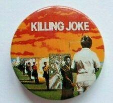 Vintage KILLING JOKE Early 1980s Pin Badge British Rock Music Post Punk