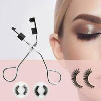 Magnetic Eyelash Curler with Quantum Soft Magnetic Set No Eyelashes False R2Z8