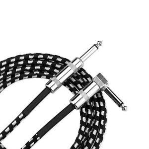Gitarrenkabel 3m 10ft 1/4 Zoll 6,5mm E-Gitarren Bass Musikinstrumentenkabel