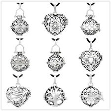 9pieces Silver pendant harmony ball cages for 20mm chime ball angel caller cages