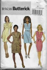 Butterick Sewing Pattern B5638 Misses' DRESS & BELT sz 16,18,20,22 EASY TO SEW