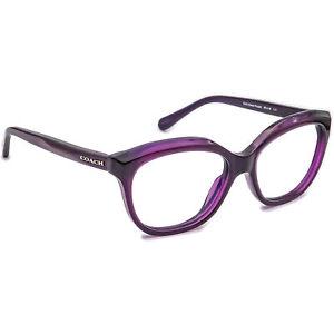 Coach Women's Eyeglasses HC 6096 5249 Deep Purple B-Shape Frame 53[]16 135