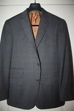 Hart Schaffner Marx Men's Gray Glenplaid Suit 40 Regular R Grey