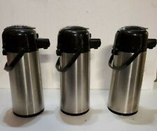 3 Coffee Airpots 22l Stainless Glass Lined Vacum Server Pump Lever