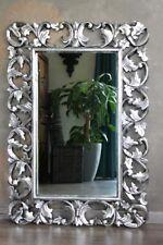 Edler Barockspiegel Wandspiegel Barock Rokoko Holz silber antik 100cm x 70cm