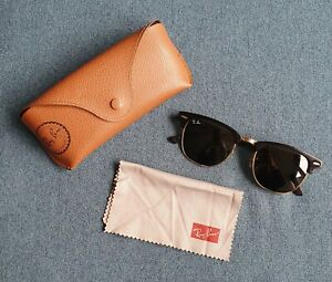 Ray Ban Classic Clubmaster Sunglasses With Case And Cleaning Cloth