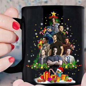 Present Gift Mug Supernatural Coffee Mug Christmas Mug Black Ceramic Black Mug