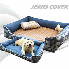 Extra Large Puppy Pets Dog Bed Cat Basket Cushion Mat w/Zipped Cover 90*70*25cm