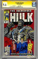 THE INCREDIBLE HULK #346  CGC SS 9.6 STAN LEE SIGNED BIG BOLD SIGNATURE