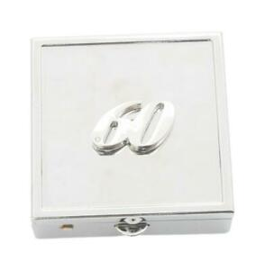 60th Birthday Square Pill Trinket Box Chrome with Mirror Gift 530