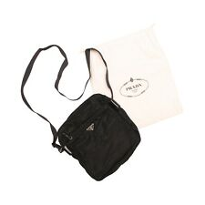 Prada Shoulder Bag Black Nylon Vela Crossbody