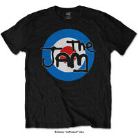 The Jam T Shirt Spray Target Logo Official Mens Black Mod Classic Rock Unisex