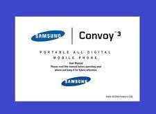 Samsung Convoy 3 User Manual for Verizon (model SCH-U680, with camera)