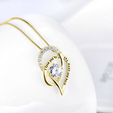 [BIRTHDAY GIFTS FOR WIFE GIRLFRIEND WOMEN MOM] I LOVE YOU MOON TO BACK NECKLACE