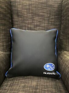 """Faux Leather Suburu Style 17"""" Cushion Cover With Fibre Filled Inner Brand New"""
