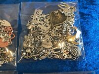 50 Mixed Tibetan Alloy Silver Charms Pendants Beads Spacers findings