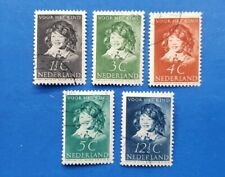 Netherlands Stamps, Scott B98-B102 Complete Set CTO's,  Hinged