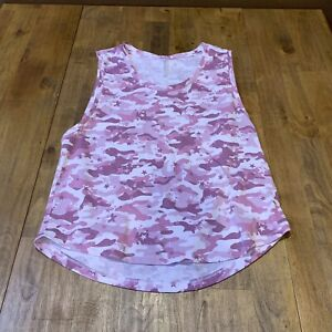 Fabletics Janis Muscle Tank Size Small Pink Camo Star Camo Lilac