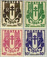 EBS France 1945 Broken Chains - Chaînes brisées YT 670-673 MNH**