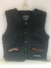 Harley Davidson SMALL Men's Diamond Plate Buffalo Leather Vest - NEW W/O TAGS