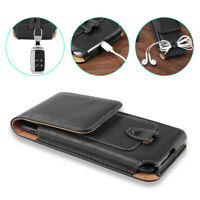 Cell Phone Case Pouch Holster with Belt Loop Metal Clip S M L for Smart Phones