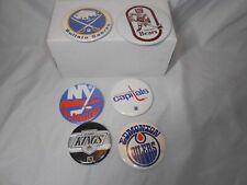 Vintage 80s hockey pins lot of 6 oilers, bears, sabres, kings, islanders and mor