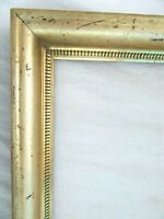 "Antique Fits 10 X 12""  Lemon Gold Gilt Picture Frame Stencil Wood Gesso Fine Art"