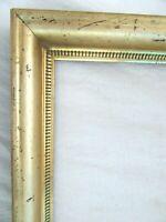 """Antique Fits 10 X 12""""  Lemon Gold Gilt Picture Frame Stencil Wood Gesso Fine Art"""