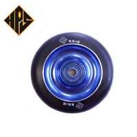 1X PRO STUNT SCOOTER SOLID BLUE METAL CORE WHEEL 100mm 88A PU ABEC 9 BEARINGS 11